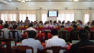 Ông Võ Cao Phi - Giám đốc Sở Kế hoạch và Đầu tư phát biểu tại hội nghị