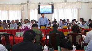 Đồng chí Trần Hữu Thế - Phó Chủ tịch UBND tỉnh phát biểu tại hội nghị