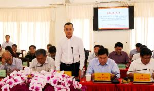Đồng chí Phó Bí thư Tỉnh ủy, Chủ tịch UBND tỉnh Phạm Đại Dương phát biểu tại hội nghị